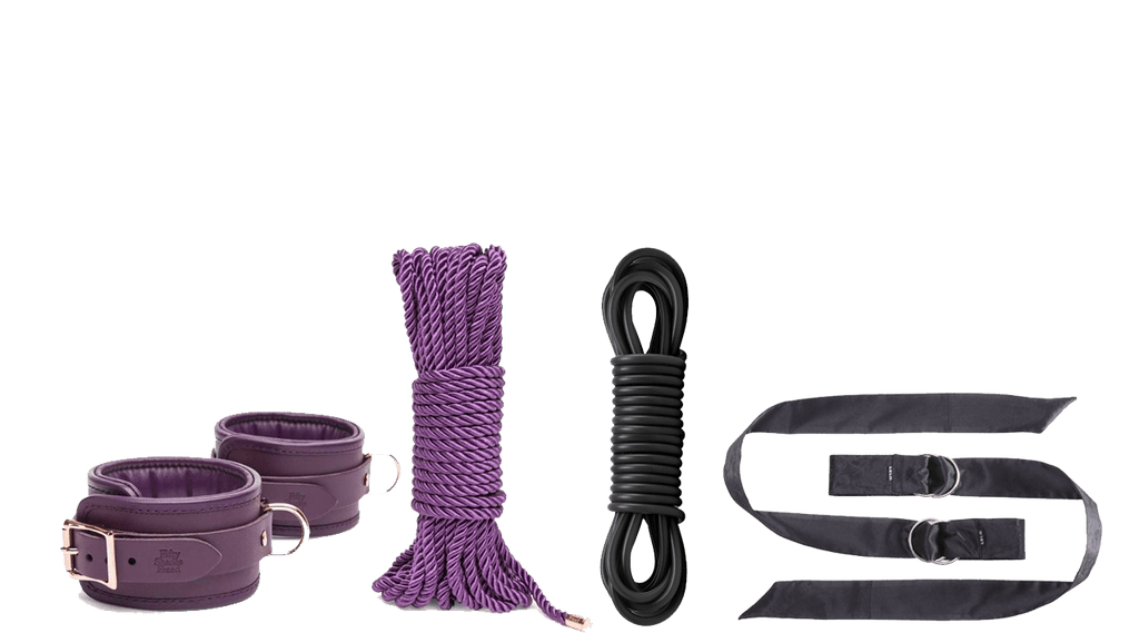 Restraints ropes and hand cuffs