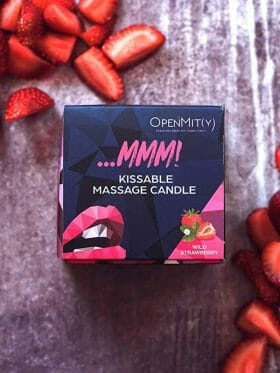 OPENMITY KISSABLE MASSAGE CANDLE WILD STRAWBERRY