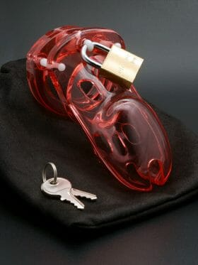 CB-X CB-3000 RED PENIS CHASTITY CAGE