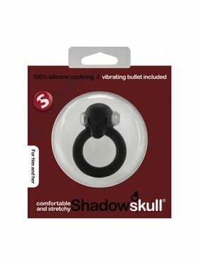 SHOTS SHADOW SKULL SILICONE COCK RING